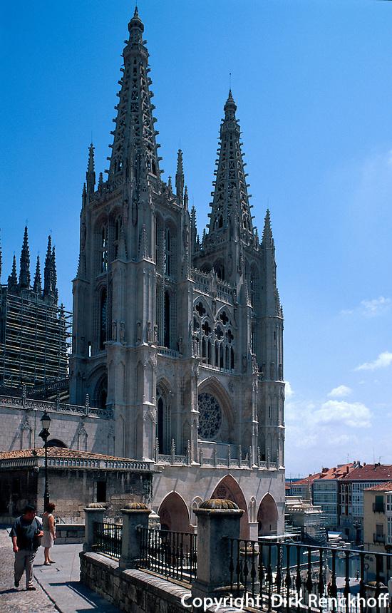 Kathedrale  in Burgos, Spanien, Kastilien-León, UNESCO-Weltkulturerbe