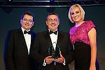 Pix: Shaun Flannery/shaunflanneryphotography.com...COPYRIGHT PICTURE>>SHAUN FLANNERY>01302-570814>>07778315553>>..13th December 2012..Doncaster Chamber Business Awards 2012...Business Person of the Year (Over 41) Award..Chris Weatherall of Wabtec Rail.