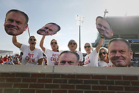 Arkansas fans cheer, Saturday, October 9, 2021 before a football game at Vaught Hemingway Stadium in Oxford, Miss. Check out nwaonline.com/211010Daily/ for today's photo gallery. <br /> (NWA Democrat-Gazette/Charlie Kaijo)