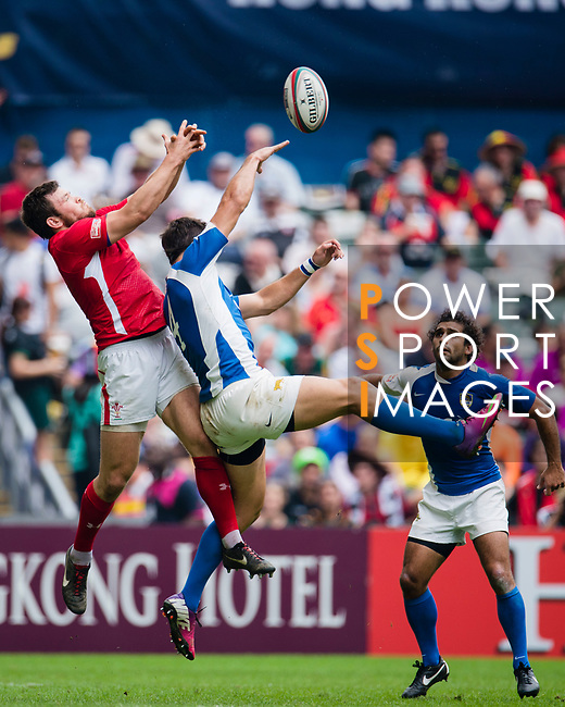 Wales play Argentina on Day 2 of the Cathay Pacific / HSBC Hong Kong Sevens 2013 on 23 March 2013 at Hong Kong Stadium, Hong Kong. Photo by Victor Fraile / The Power of Sport Images