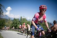 Simon Clarke (AUS/EF Education First) up the infamous Muro di Sormano (avg 17%/max 25%)<br /> <br /> 114th Il Lombardia 2020 (1.UWT)<br /> 1 day race from Bergamo to Como (ITA/231km) <br /> <br /> ©kramon