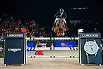 Gerco Schroder of Netherlands rides Glock's London N.O.P. in action at the Longines Grand Prix during the Longines Hong Kong Masters 2015 at the AsiaWorld Expo on 15 February 2015 in Hong Kong, China. Photo by Juan Flor / Power Sport Images