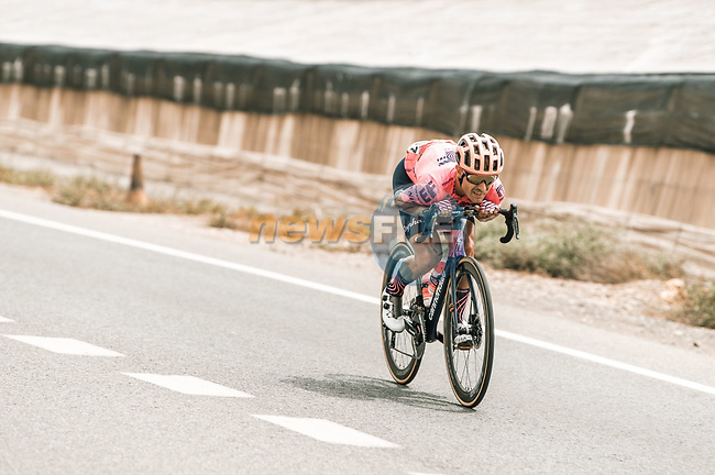 Magnus Cort Nielsen (DEN) EF Education-Nippo in the breakaway during Stage 10 of La Vuelta d'Espana 2021, running 189km from Roquetas de Mar to Rincón de la Victoria, Spain. 24th August 2021.     <br /> Picture: Cxcling | Cyclefile<br /> <br /> All photos usage must carry mandatory copyright credit (© Cyclefile | Cxcling)