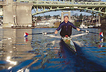 Carol Skricki, Rowing Workout, single sculls, Seattle, National Team rower, Rowed with Laurel Korholz, in the US Women's double sculls, Cologne, Germany, 1998 FISA World Rowing Championships,.
