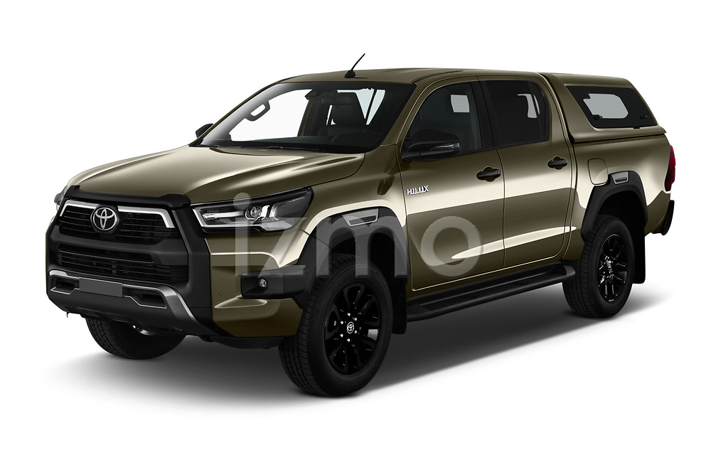 2021 Toyota Hilux Invincible 4 Door Pick-up Angular Front automotive stock photos of front three quarter view