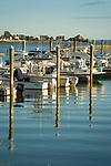 Boat slips and docks; Clinton, CT. Port Clinton Marina. Indian River.