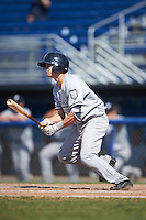 Staten Island Yankees second baseman Nick Solak (59) at bat during a game against the Batavia Muckdogs on August 28, 2016 at Dwyer Stadium in Batavia, New York.  Batavia defeated Staten Island 6-0.  (Mike Janes/Four Seam Images)