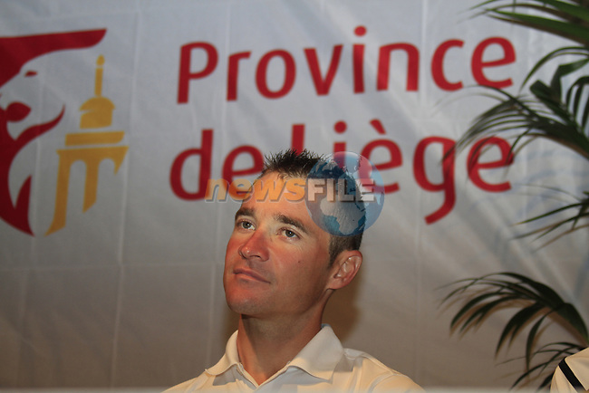 Thomas Voeckler (FRA) at the Team Europcar press conference in the Country Hall, Liege, Belgium before the 2012 Tour de France, Liege, Belgium. 28th June 2012.<br /> (Photo by Eoin Clarke/NEWSFILE)
