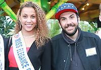 LIVIA HOARAU, Miss Elegance 2017 & LAURENT OURNAC - Soirée d'inauguration de la foire du trône 2017 - Paris, France - 31/03/2017