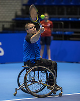 Rotterdam, Netherlands, December 13, 2016, Topsportcentrum, Lotto NK Tennis,  Rutger Bakker (NED) <br /> Photo: Tennisimages/Henk Koster