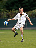 17 October 2007: The University of Vermont Catamounts' Connor Tobin, a Junior from Fort Collins, CO, in action against the University of Maryland Retrievers at Historic Centennial Field in Burlington, Vermont. The Catamounts and Retrievers battled to a scoreless, double-overtime tie...Mandatory Photo Credit: Ed Wolfstein Photo