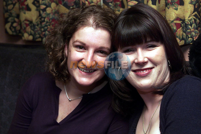 Enjoying a night out in The Pheasant were Theresa Mooney, Beamore Road and Estel Page, Leicster..Picture Paul Mohan Newsfile