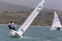 BARRANQUILLA - COLOMBIA, 24-07-2018: Equipo de Puerto Rico durante su participación en las competencias de Vela hombres como parte de los Juegos Centroamericanos y del Caribe Barranquilla 2018. /  Puerto Rico team during his participation in the competitions of men's sailing as a part of the Central American and Caribbean Sports Games Barranquilla 2018. Photo: VizzorImage / Cont