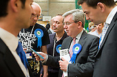 Conservative Deputy Council Leader Andrew Marshall talks with supporters as Labour defeats the ruling Lib-Dem Conservative coalition in the Camden Council local elections 2010.