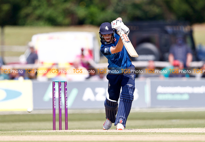 Ollie Robinson bats for Kent during Kent Spitfires vs Durham, Royal London One-Day Cup Cricket at The Spitfire Ground on 22nd July 2021