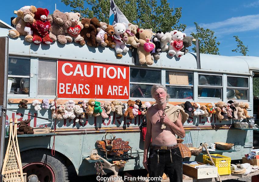 proprietor of mobile museum in Carcross