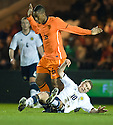 DAVID WOTHERSPOON IS CAUGHT LATE BY LEROY FER