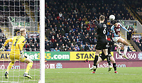 Burnley's Dwight McNeil directs a close range headed effort off target<br /> <br /> Photographer Rich Linley/CameraSport<br /> <br /> Emirates FA Cup Third Round - Burnley v Barnsley - Saturday 5th January 2019 - Turf Moor - Burnley<br />  <br /> World Copyright © 2019 CameraSport. All rights reserved. 43 Linden Ave. Countesthorpe. Leicester. England. LE8 5PG - Tel: +44 (0) 116 277 4147 - admin@camerasport.com - www.camerasport.com