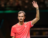 Rotterdam, The Netherlands, 13 Februari 2019, ABNAMRO World Tennis Tournament, Ahoy,  first round singles: Daniil Medvedev (RUS) winner<br /> Photo: www.tennisimages.com/Henk Koster