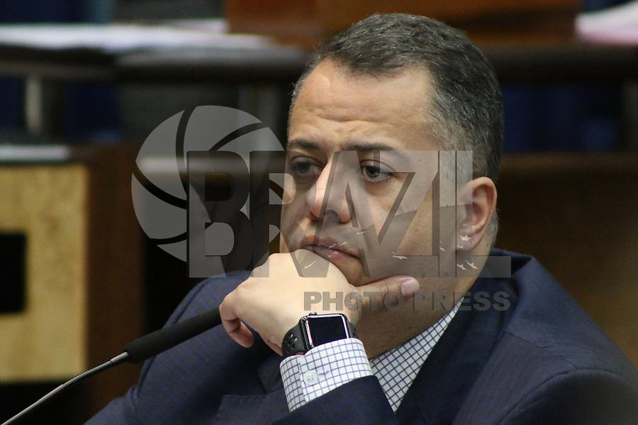 SÃO PAULO, SP, 21.05.2019 - POLITICA-SP - Wellington Moura, Deputado Estadual PRB/SP, durante reunião da Comissão de Defesa dos Direitos da Pessoa Humana, da Cidadania, da Participação e das Questões Sociais da Assembléia Legislativa do Estado de São Paulo, nesta terça-feira, 21.  (Foto Charles Sholl/Brazil Photo Press)