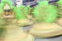 SÃO PAULO, SP, 09.03.2019 - CARNAVAL-SP - Integrantes da escola de samba Mancha Verde  Campeã do Carnaval de São Paulo 2019,  comemoram no desfile das campeãs o titulo de vice campeã do grupo especial de São Paulo na noite deste sábado, 09. (Foto: Nelson Gariba/Brazil Photo Press)