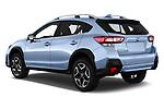 Car pictures of rear three quarter view of a 2018 Subaru XV Premium 5 Door SUV angular rear
