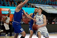 27-03-2021: Basketbal: Donar Groningen v Den Helder Suns: Groningen Donar speler Henry Caruso met Den Helder speler Yarick Brussen