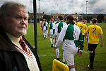 The two teams making their way onto the pitch at Mount Pleasant before Marske United (in yellow) take on Billingham Synthonia in a Northern League division one fixture. Formed in 1956 in Marske-by-the-Sea, the home club had secured automatic promotion to the Northern Premier League two days before and were in the midst of a run of six home games in 10 days as they attempted to overtake Morpeth Town to win the league. They won this match 6-1 against already relegated Billingham, watched by a crowd of 196.