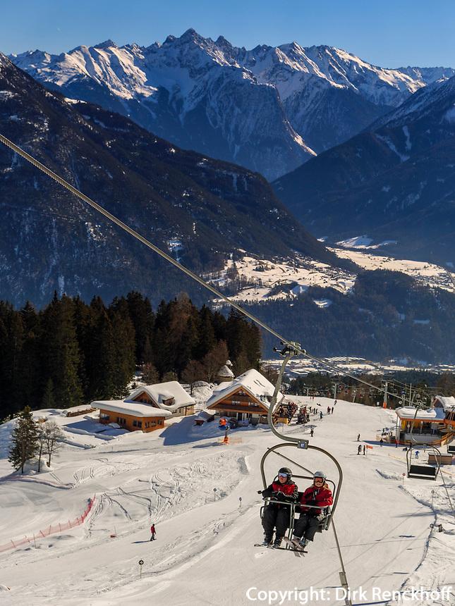 Skilift bei der Untermarkter Alm, Hochimst bei Imst, Tirol, Österreich, Europa<br /> Skilift at alp  Untermarkter Alm, skiing area Hochimst, Imst, Tyrol, Austria, Europe