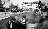 Sanne Cant (BEL/BKCP-Powerplus) crossing the finish line victoriously<br /> <br /> Superprestige Gavere 2014