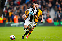 2nd October 2021;  Molineux Stadium, Wolverhampton,  West Midlands, England; EFL Cup football, Wolverhampton Wanderers versus Newcastle United; Joelinton of Newcastle United chases down a through-ball