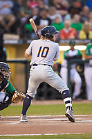 Taylor Walls (10) of the Bowling Green Hot Rods at bat against the Dayton Dragons at Fifth Third Field on June 8, 2018 in Dayton, Ohio. The Hot Rods defeated the Dragons 11-4.  (Brian Westerholt/Four Seam Images)