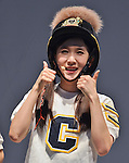 """Cho-A(CRAYON POP), July 22, 2015 : Choa of Crayon Pop attends the promotion event for their new single """"ra ri ru re"""" at Lazona Kawasaki Plaza in Kawasaki, kanagawa prefecture, Japan, on July 22, 2015. They performed the opening act for Lady Gaga's """"ArtRave: The Artpop Ball concert tour"""" in twelve cities across North America on 2014."""