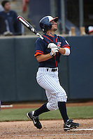 February 22 2009: Josh Fellhauer of the CSUF Titans during game against the TCU Horned Frogs at Goodwin Field in Fullerton,CA.  Photo by Larry Goren/Four Seam Images