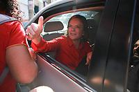 SÃO PAULO, 13 JULHO DE 2017 - A presidente do PT, senadora Gleisi Hoffmann (PR), deixa a Sede Nacional do Partido do PT localizado na Sé Região Central de São Paulo, após coletiva de imprensa do então ex-presidente Inacio Lula da Silva, condenado a 09 anos e meio por envolvimento no esquema de corrupção da Lava Jato.Gleisi Hoffmann é ré em um processo da Lava Jato no Supremo Tribunal Federal (STF) por corrupção e lavagem de dinheiro. Foto: Amauri Nehn/Brazil Photo Press