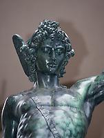 Italien, Toskana, Florenz, Piazza della Signoria, Loggia die Lanzei, Perseus von Benvenuto Cellini, Unesco-Weltkulturerbe