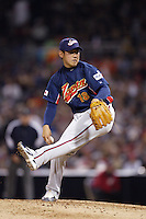 Daisuke Matsuzaka of Japan during World Baseball Championship at Petco Park in San Diego,California on March 20, 2006. Photo by Larry Goren/Four Seam Images