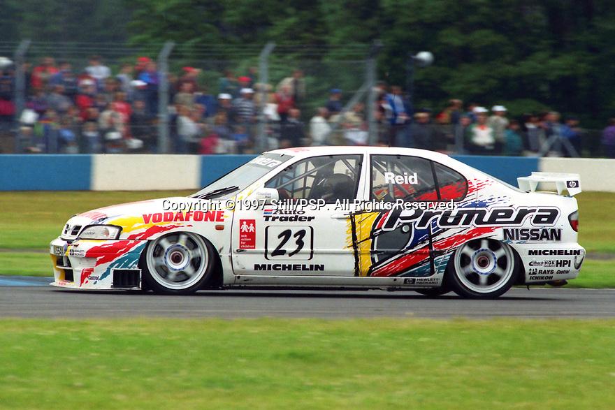 1997 British Touring Car Championship #23 Anthony Reid (GBR). Vodafone Nissan Racing. Nissan Primera.