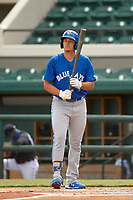 Toronto Blue Jays Ryan Noda (54) bats during a Florida Instructional League game against the Detroit Tigers on October 28, 2020 at Joker Marchant Stadium in Lakeland, Florida.  (Mike Janes/Four Seam Images)