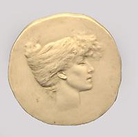 Francia Parigi Musée d'Orsay René Lalique (Ay,Marne 1860 - Paris 1945 ) Medaglia in avorio raffigurante Sarah bernardt (1844-1923)