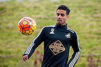 Tuesday 19 April 2016<br /> Pictured: Kyle Naughton of Swansea City  in action during training.<br /> Re: Swansea City Training Session ahead of the away game against Leicester City FC