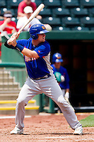 Petey Paramore (7) of the Midland RockHounds at bat during a game against the Springfield Cardinals on April 19, 2011 at Hammons Field in Springfield, Missouri.  Photo By David Welker/Four Seam Images