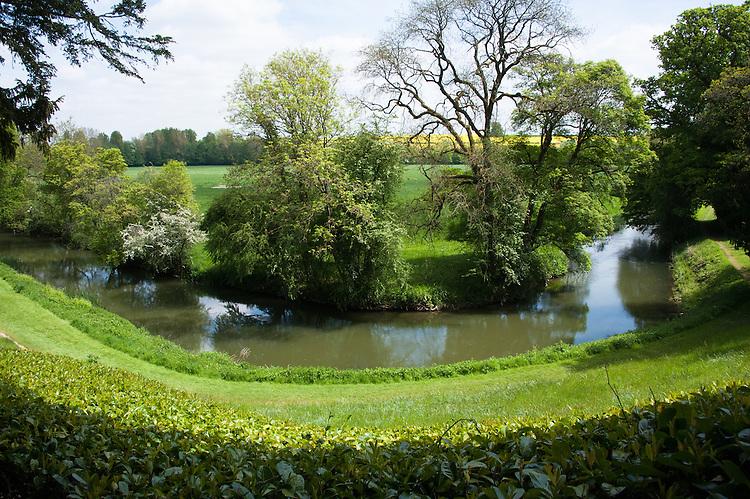 The River Cherwell, Rousham House and Garden.