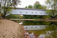 The Jackson Covered Bridge in the fall; Parke County, IN