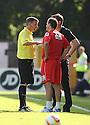 Referee Gary Sutton talks to managers Phil Parkinson and Graham Westley<br />  - Stevenage v Bradford City - Sky Bet League 1 - Lamex Stadium, Stevenage - 31st August, 2013<br />  © Kevin Coleman 2013