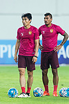 Guangzhou Midfielder Paulinho Maciel (R) and Guangzhou Midfielder Zheng Zhi (L) on their warming up session during the AFC Champions League 2017 Round of 16 match between Guangzhou Evergrande FC (CHN) vs Kashima Antlers (JPN) at the Tianhe Stadium on 23 May 2017 in Guangzhou, China. (Photo by Power Sport Images/Getty Images)