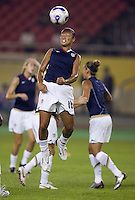 USA midfielder (16) Angela Hucles during warmups. Brazil (BRA) defeated the United States (USA) 4-0 during the FIFA Women's World Cup China 2007 at Hangzhou Dragon Stadium in Hangzhou, China, on September 27, 2007. Brazil advances to the finals, while the United States will play in the third place game on September 30th.