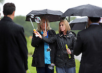 Pictured: Nurses blow bubbles after the burial at Thornhill Cemetery, Cardiff, Wales, UK. Tuesday 28 June 2016<br /> Re: The funeral of Sion, the baby boy found dead in the River Taff in Cardiff has taken place<br /> Generous locals raised nearly £1,400 for the memorial after reading about plans to hold a fitting ceremony for the newborn baby whose body was discovered in Cardiff a year ago.<br /> The funeral took place at the Briwnant Chapel at Thornhill Crematorium, Cardiff. Members of the public are invited to be among the congregation.