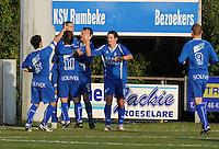 SV Rumbeke - SV Kortrijk..vreugde na de 1-0 van Nico Vereecke..foto VDB / BART VANDENBROUCKE