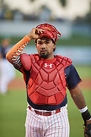 Clearwater Threshers catcher Deivy Grullon (10) during the Florida State League All-Star Game on June 17, 2017 at Joker Marchant Stadium in Lakeland, Florida.  FSL North All-Stars defeated the FSL South All-Stars  5-2.  (Mike Janes/Four Seam Images)